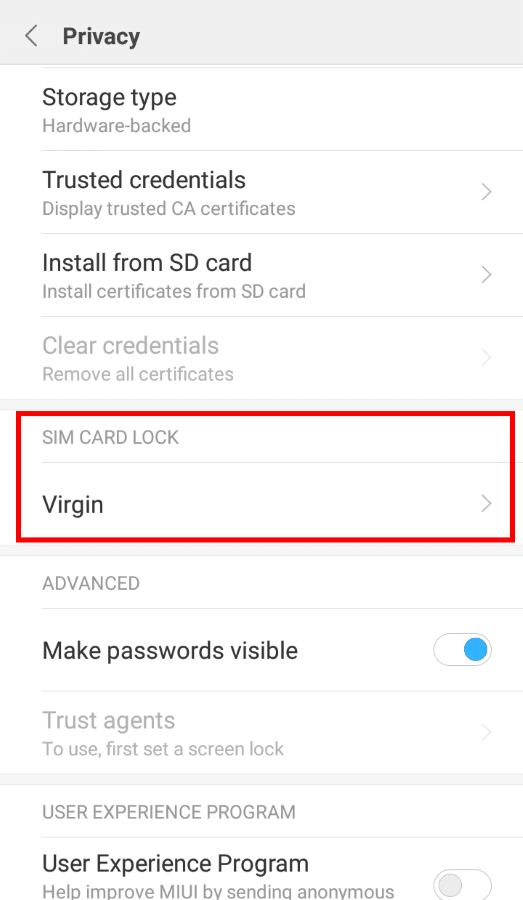 Change SIM Card PIN Settings in MIUI - Sebastian Expert