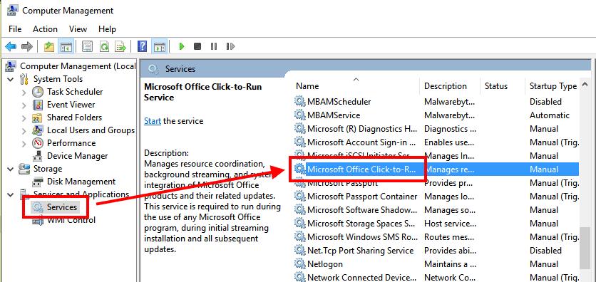Microsoft Office Click To Run Service Check 1