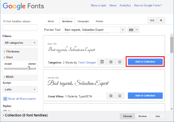 Using Google Fonts in Word Step 1