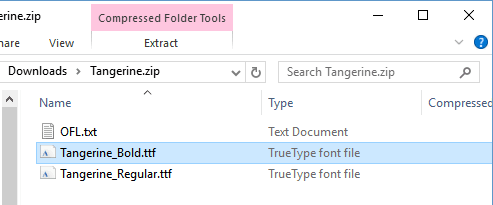 Using Google Fonts in Word Step 4