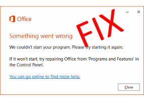 Fixed- Something went wrong We couldn't start your program
