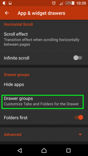 Nova Launcher - app and widget drawers