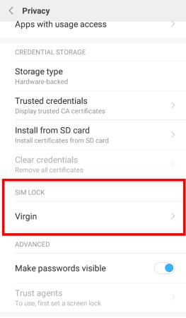 miui 8 privacy settings