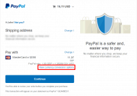 paypal - initial payment