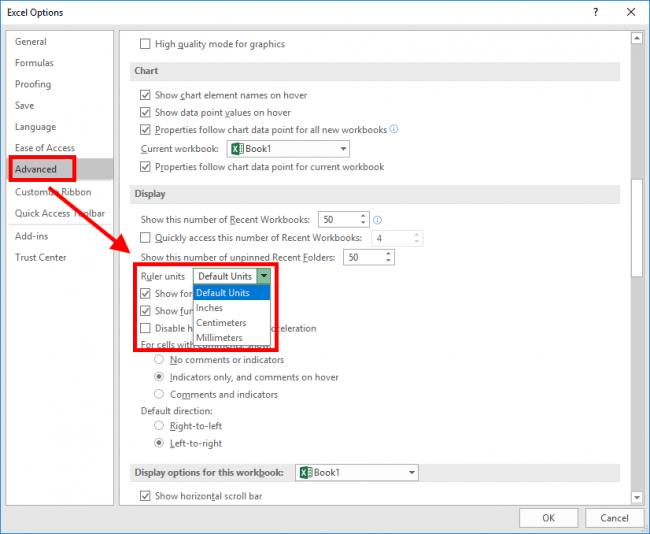 change-units-excel-advanced-options