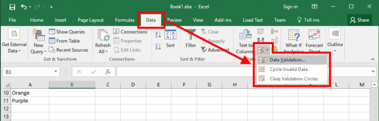 Excel - Data Validation Item for Small Size Screen