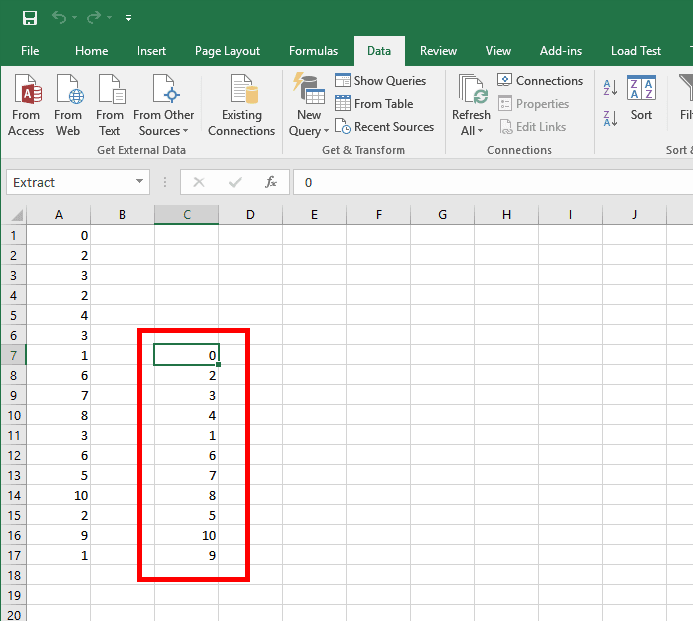 Excel - Unique values as a result