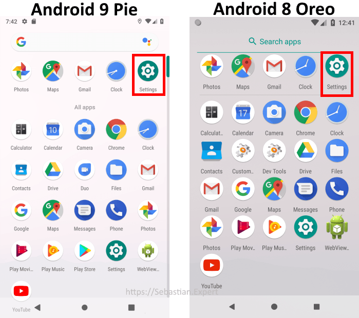 Android 8 and 9 Applications List