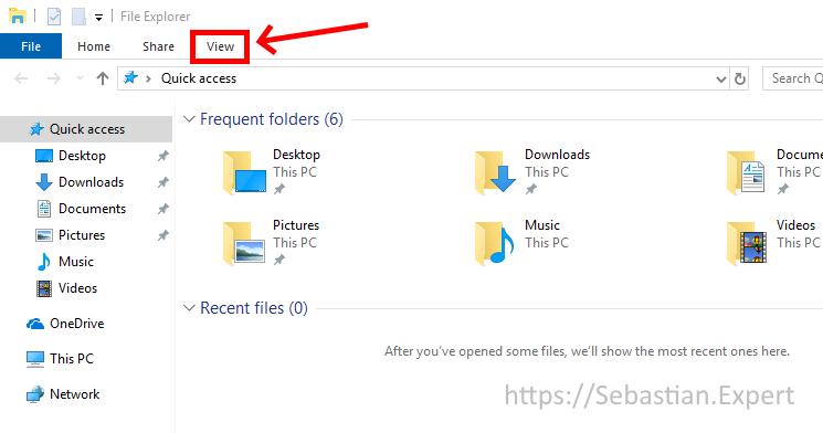 File Explorer - main window